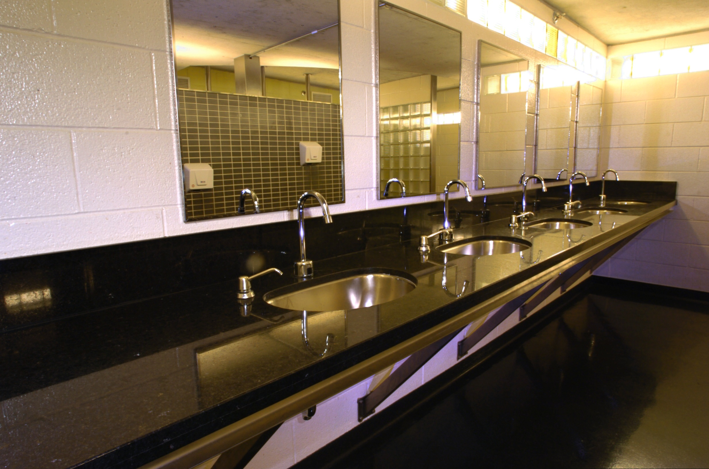 These washrooms look like they  39 re right out of a 5 star hotel of the future  It is very unusual to see such clean state of the art washrooms in an. cement jpg